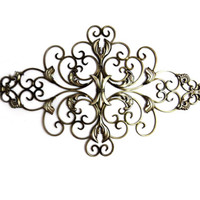 Floral Scroll Metal Wall Home Decor