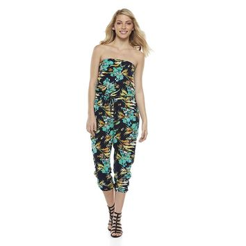 Mudd Strapless Jumpsuit - Juniors, Size: