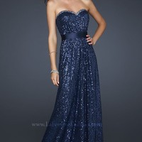 Sequin evening gown by La Femme