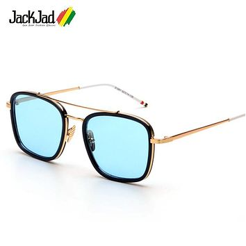 JackJad 2017 Fashion Men 800 Square Aviator Style Sunglasses Man UV400 Brand Design Square Sun Glasses Oculos De Sol Masculino