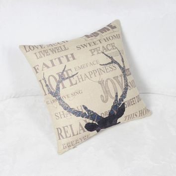 HD print dining chair cushion 45x45cm car seat cushions Home decorative pillow pillowcase Nordic style antlers for living room