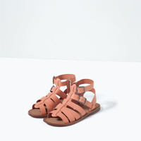 ZIPPED LEATHER SANDALS - View All-SHOES-GIRL | 4-14 years-KIDS | ZARA United States