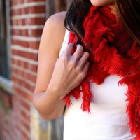 Soft & Cozy Scarf {Red} - Soft Red Scarf