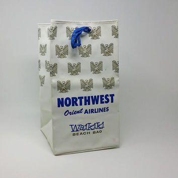 Northwest Orient Airlines Waikiki Beach Bag