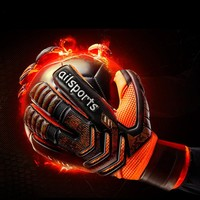 Soccer Men professional Goalkeeper Gloves Strong Finger Protection Thickened Latex Goal Keeper Gloves De Futebol Goalie Gloves