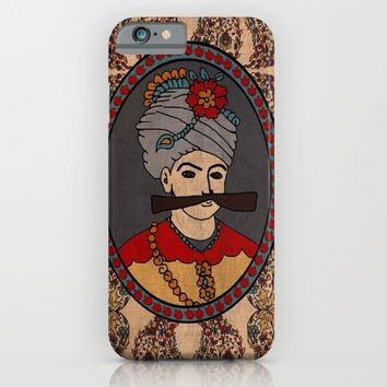 Persian King tapestry( shah abbas) iPhone & iPod Case by Bluepersiandesign