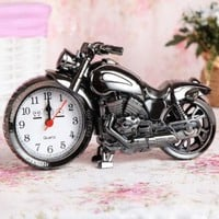 Motorcycle Style Personality Creative Alarm Clock Black Gray