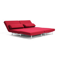 Cloud Convertible 2-Seater Sofa in Red