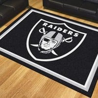 NFL -  Oakland Raiders 8'x10' Plush Rug