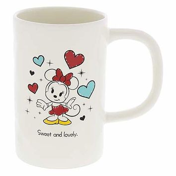 Disney Parks Minnie Mouse Sweet and Lovely 10oz Coffee Mug New