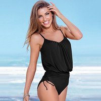 New Women Swimwear Sexy Strap Bandage One piece Push up Swimsuit Beach Swim Bathing Suits Bodysuit cute swimwear