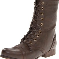 Madden Girl Women's Gamer Lace-Up Boot, Brown Paris,8 M US