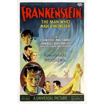 Frankenstein The Man Who Made The Monster Movie Poster