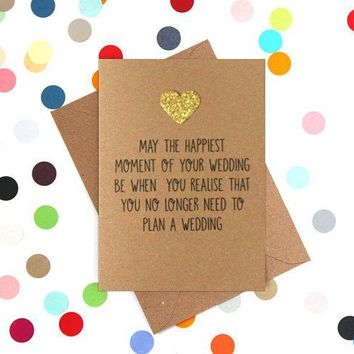 Happiest Moment Of Your Wedding Funny Happy Wedding Day Card Getting Married Card Engagement Card FREE SHIPPING