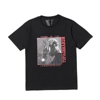Europe and the United States tide brand VLONE LIFE printing 2PAC short-sleeved T-shirt hip-hop commemorative figure portrait printing cotton round neck cotton tee