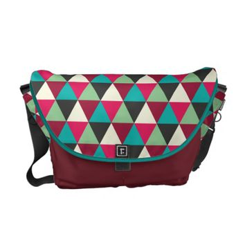Trendy Ethnic Style Geometric Triangles Pattern Courier Bags