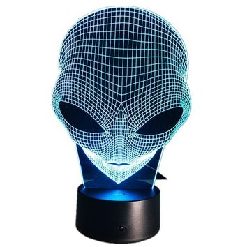 Hologram Illusion Lamp Acrylic Night Light With Touch Switch