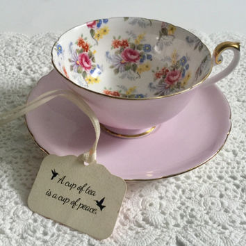 Vintage Shelley Georgian Chintz Tea Cup & Saucer