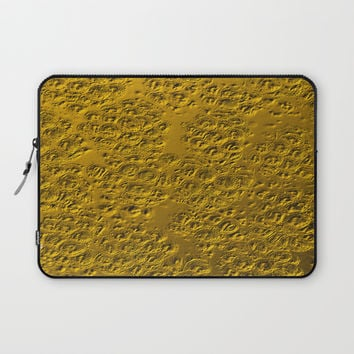 Damaged gold Laptop Sleeve by steveball