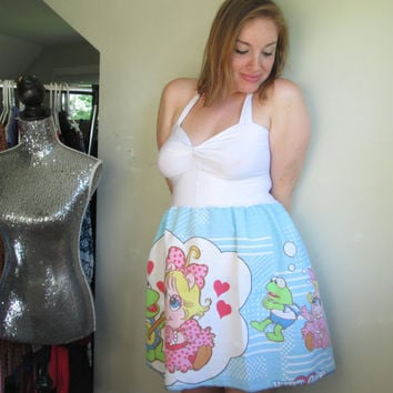 Vintage Muppet Babies Halter Womens Disney Dress