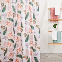 Elizabeth Scarlett Jungle Leaf Shower Curtain at asos.com