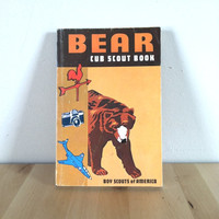 Bear Cub Scouts Book: Boy Scouts of America {1971} Vintage Book
