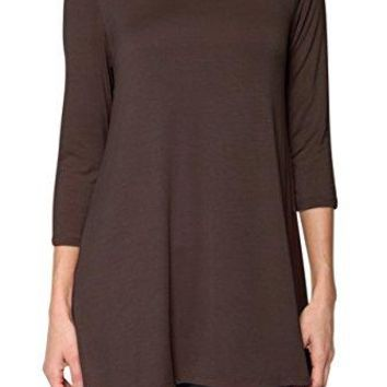 Free to Live Womens Long Sleeves Casual Flowy Tunic Top