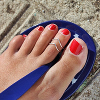 Casual V-Shape Toe Rings Tail Ring Gift-225