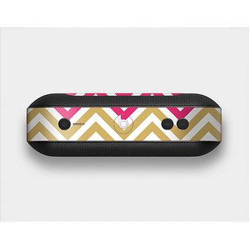 The Three-Bar Color Chevron Pattern Skin Set for the Beats Pill Plus