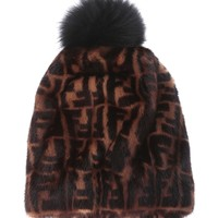 Pom Pom Mink Fur Beanie by Fendi