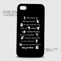 Disney Lessons Learned Mash Up Disney Quote 3D Image Cases for iPhone, iPod, Samsung Galaxy by FixCenters