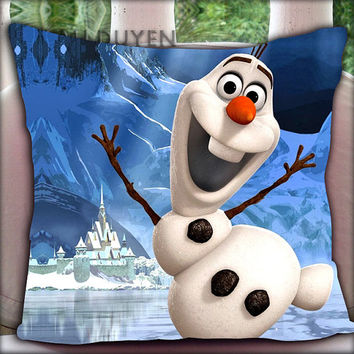 Snowman Olaf - Pillow Cover Pillow Case and Decorated Pillow.