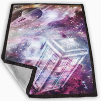 Doctor Who the tardis in galaxy nebula space Blanket for Kids Blanket, Fleece Blanket Cute and Awesome Blanket for your bedding, Blanket fleece *