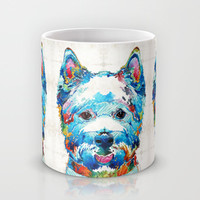 Colorful West Highland Terrier Dog Art Sharon Cummings Mug by Sharon Cummings