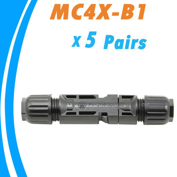 5 Pairs Male and Female MC4 Solar Panel Connector used for Solar Cable Suitable  Cable Cross Sections 2.5mm2~6.0mm2  MC4X-B1