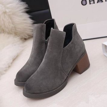 ca PEAPTM4 Hot Deal On Sale Winter Round-toe Dr. Martens High Heel Matte Casual Boots [11203296839]