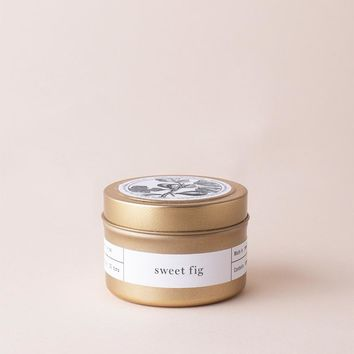 Sweet Fig Gold Travel Candle