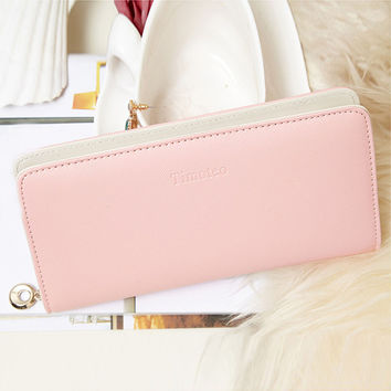 New fashion women wallet Cash Purse Long Purse Wallet Card Holder Handbag Bag carteira feminina Passport Cover 2016
