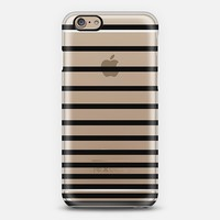 Black Ombre Stripes Transparent iPhone 6 case by Organic Saturation | Casetify