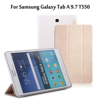 For Samsung Galaxy Tab A 9.7 T550 T555 P550 P555 Tablet Ultra thin high quality transparent rear casing sleeve case cover + Film