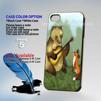 Bear and Fox, Photo Hard Plastic iPhone 5 Case Cover