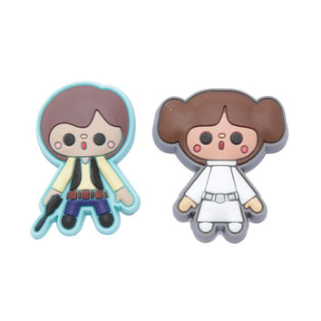 Loungefly Star Wars Princess Leia & Han Solo Rubber Pin Set