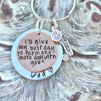 I'd give my best day to farm one more day with you ™ - Memorial Jewelry