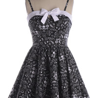 With the Band-ana Dress in Black - $57.95 : Indie, Retro, Party, Vintage, Plus Size, Convertible, Cocktail Dresses in Canada