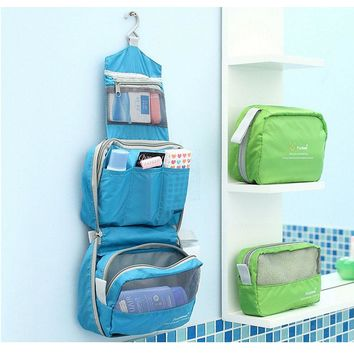 Hanging Travel Toiletry Bag Large Travel Cosmetic Bags Waterproof Toiletry Bags Organizer Make Up Bag Women Men Fashion Handbag