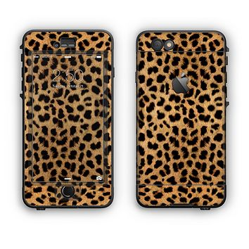 The Orange Cheetah Fur Pattern Apple iPhone 6 Plus LifeProof Nuud Case Skin Set