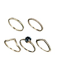 ASOS Multi Stone Ring Pack