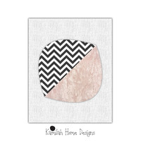 Abstract Art Print, Printable Art, Chevron, Mid Century, Scandinavian Design, Minimalist Art, Abstract Wall Art, Digital Download.