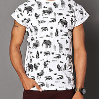 Animal Instinct Tee White/Black