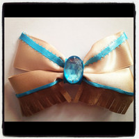 Pocahontas inspired disney hair bow